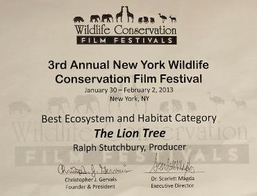 New York Wildlife Conservation Film Festival Award